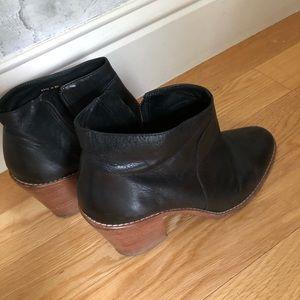 Loeffler Randall black leather booties